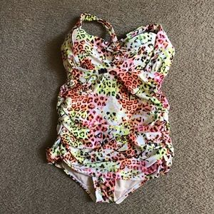NWOT Swim by Cacique Ruched 1pc Swimsuit size 18